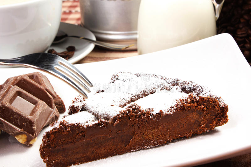 Download Chocolate cake stock image. Image of cook, food, brown - 27592107