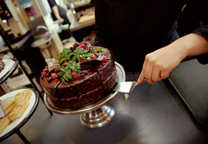 Download Chocolate cake stock photo. Image of berries, slices, cafe - 3133788