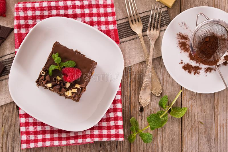Chocolate cake. royalty free stock images