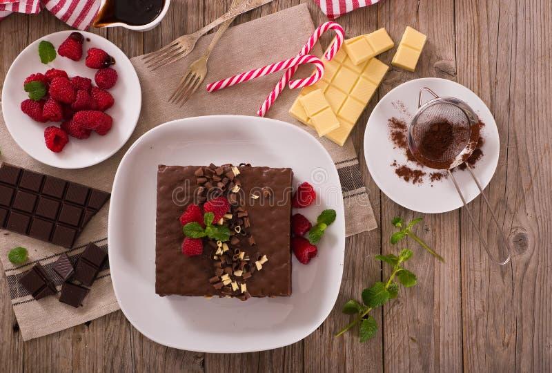 Chocolate cake. stock photography