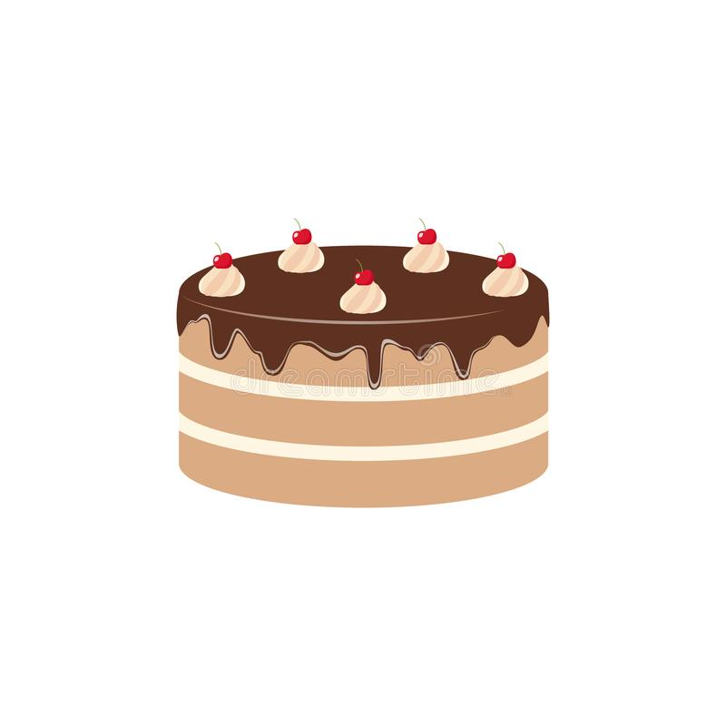 chocolate cake clipart cartoon. chocolate cake with cherries stock vector -  illustration of baked, party: 123601812  dreamstime.com
