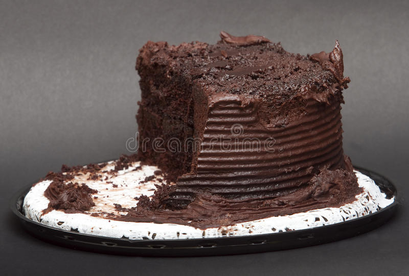 Download Chocolate Cake On A Doily stock image. Image of isolated - 22822719