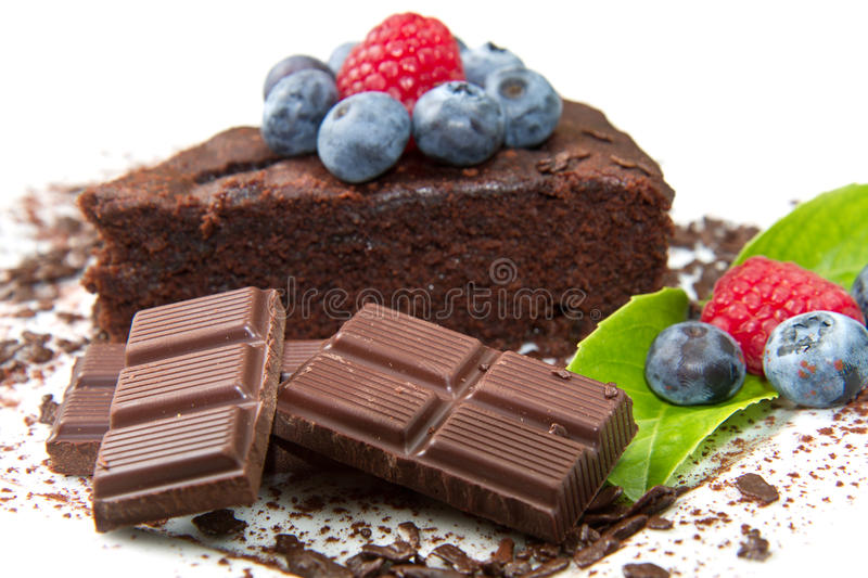 Download Chocolate Cake With Fresh Berry Stock Image - Image: 25970809