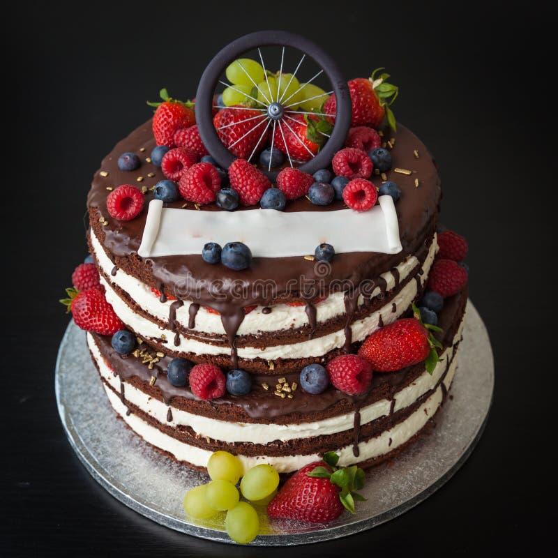 Black Currant Birthday Cake