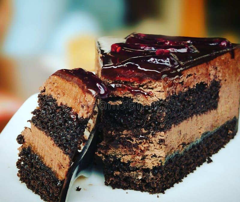 Chocolate cake. stock images