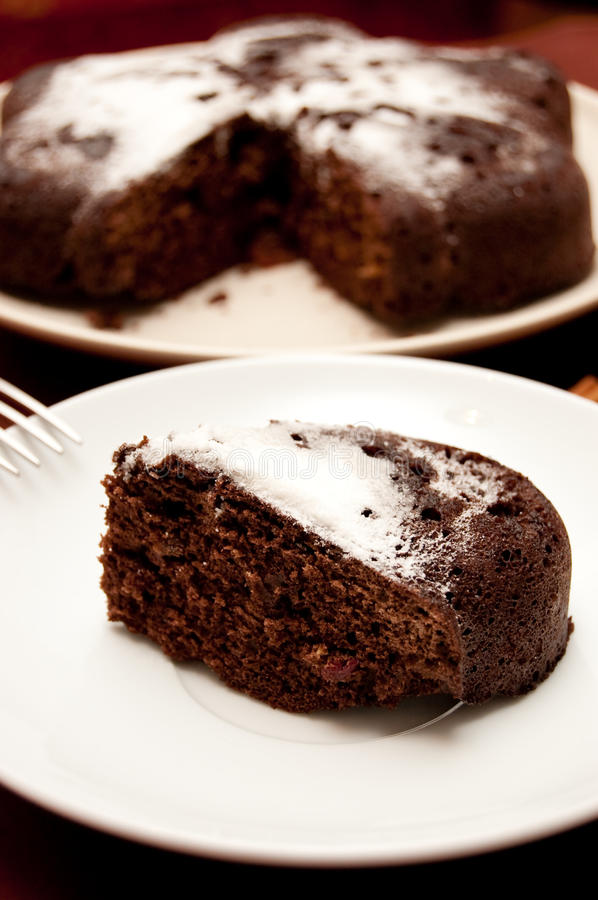 Download Chocolate Cake With Icing Sugar Royalty Free Stock Photo - Image: 13276085