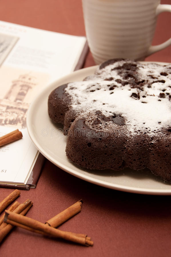 Download Chocolate Cake With Icing Sugar Stock Image - Image: 13276357