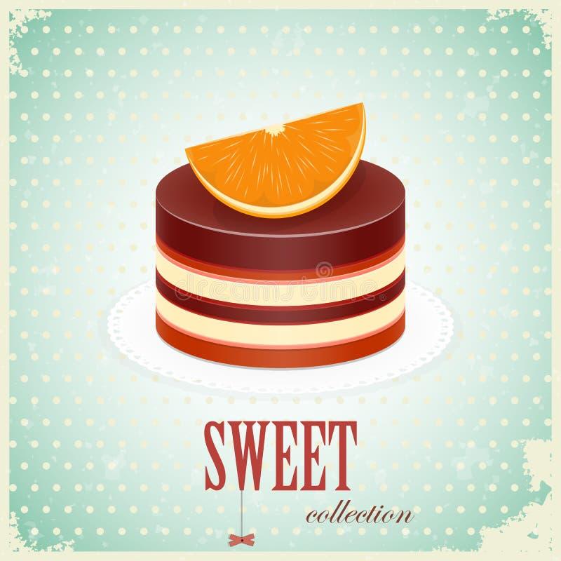 Chocolate Cake With Orange Stock Photos