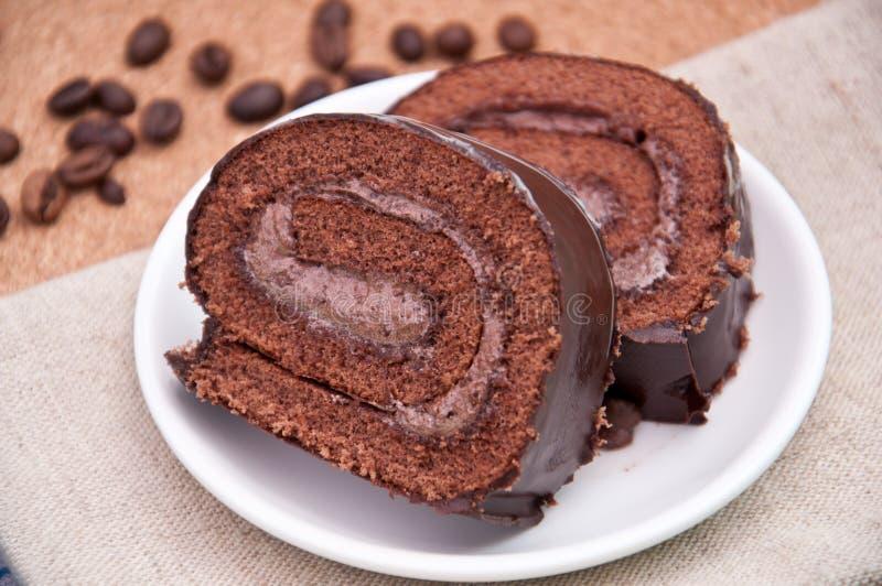 Chocolate Cake-roll Royalty Free Stock Photo