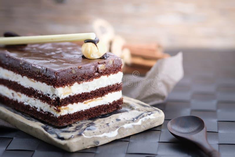 Chocolate Cake Slice stock photography
