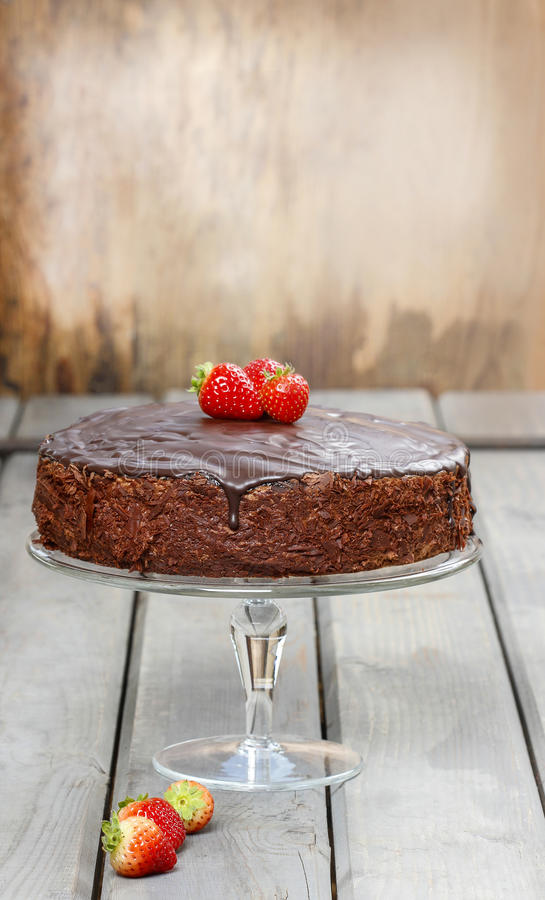 Download Chocolate Cake With Strawberries. Birthday Party Stock Photo - Image: 38587520