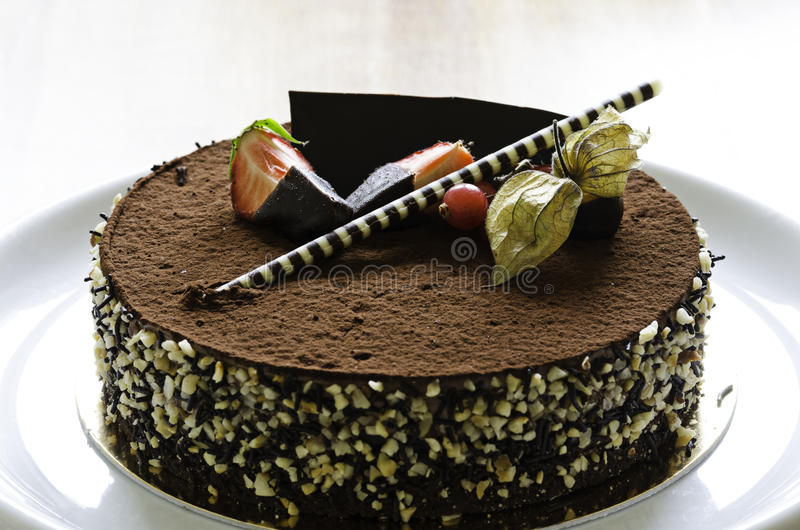 Download Chocolate Cake With Strawberries Stock Photo - Image: 31082154