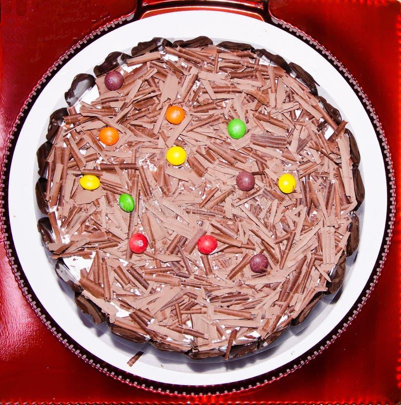 The chocolate cake royalty free stock photos
