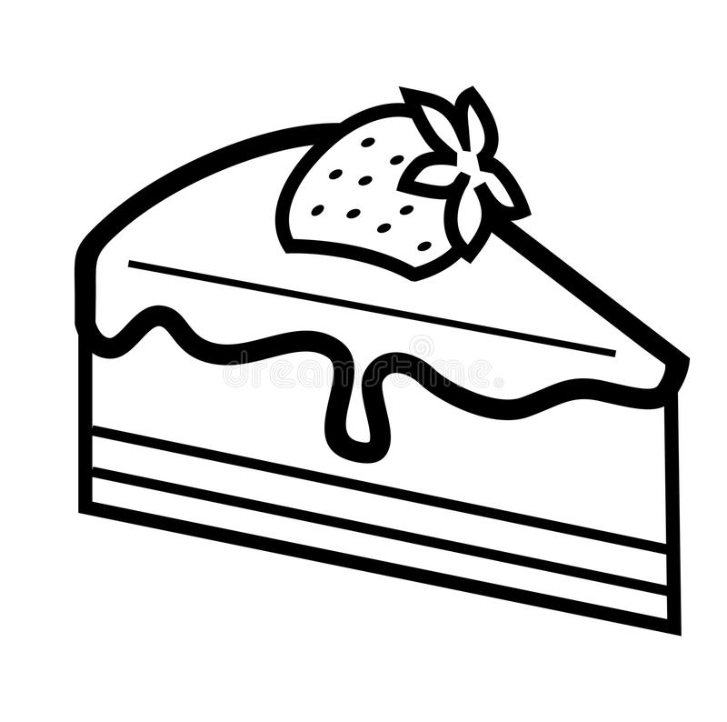 Chocolate Cake Vector Black And White