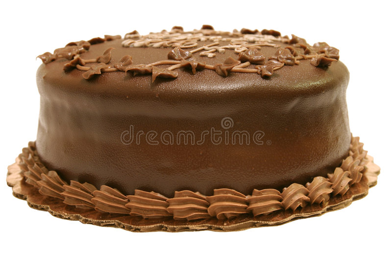 Chocolate Cake - Whole royalty free stock photos