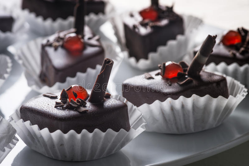 Download Chocolate cakes stock photo. Image of decorated, cherry - 28789286