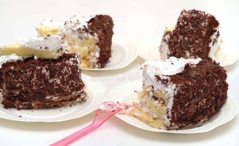 Chocolate cakes royalty free stock photos