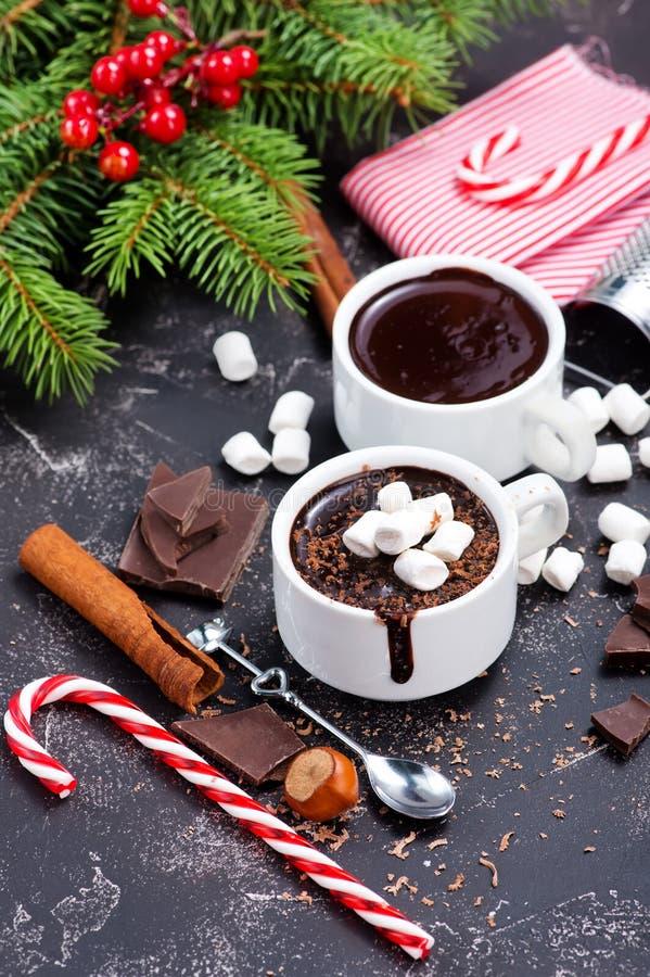Chocolate caliente fotografía de archivo libre de regalías