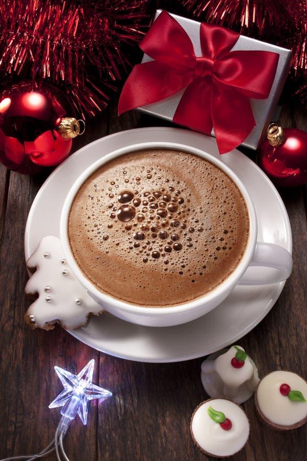 Chocolate caliente de la Navidad imagen de archivo