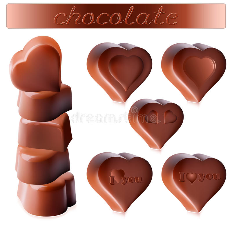 Chocolate candies stock illustration