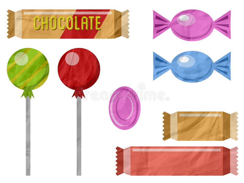 Download Chocolate and candies 2 stock illustration. Illustration of lollipop - 27490636
