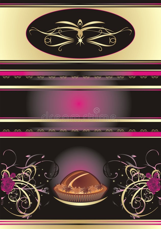 Chocolate candies. Abstract background for wrappin royalty free illustration