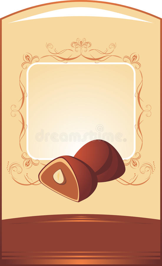 Chocolate candies. Background for wrapping royalty free illustration
