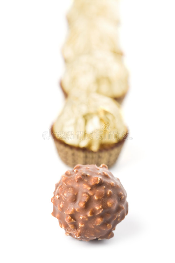 Chocolate Candies Isolated Stock Photos
