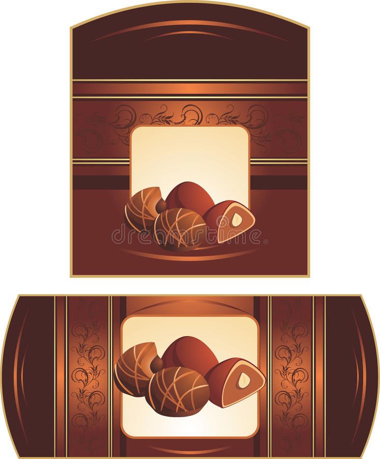 Download Chocolate Candies With Nuts. Wrappings Stock Vector - Image: 21188073
