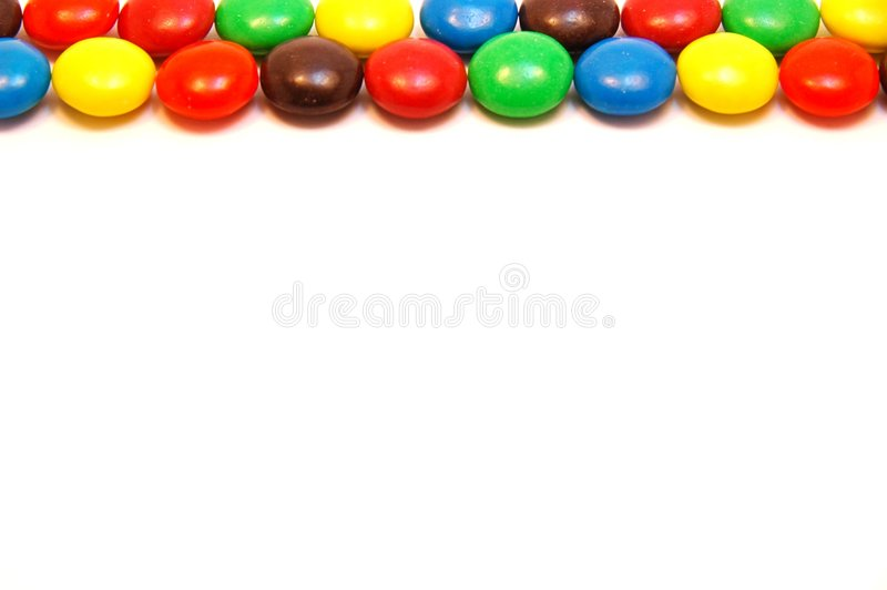 Chocolate candy border royalty free stock photo