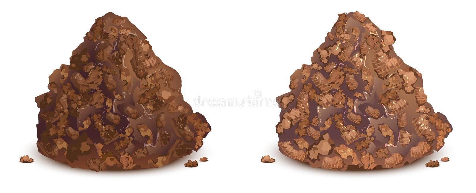 Chocolate candy brown truffle with sprinkle stock illustration