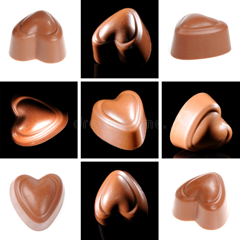 Chocolate candy collage royalty free stock image