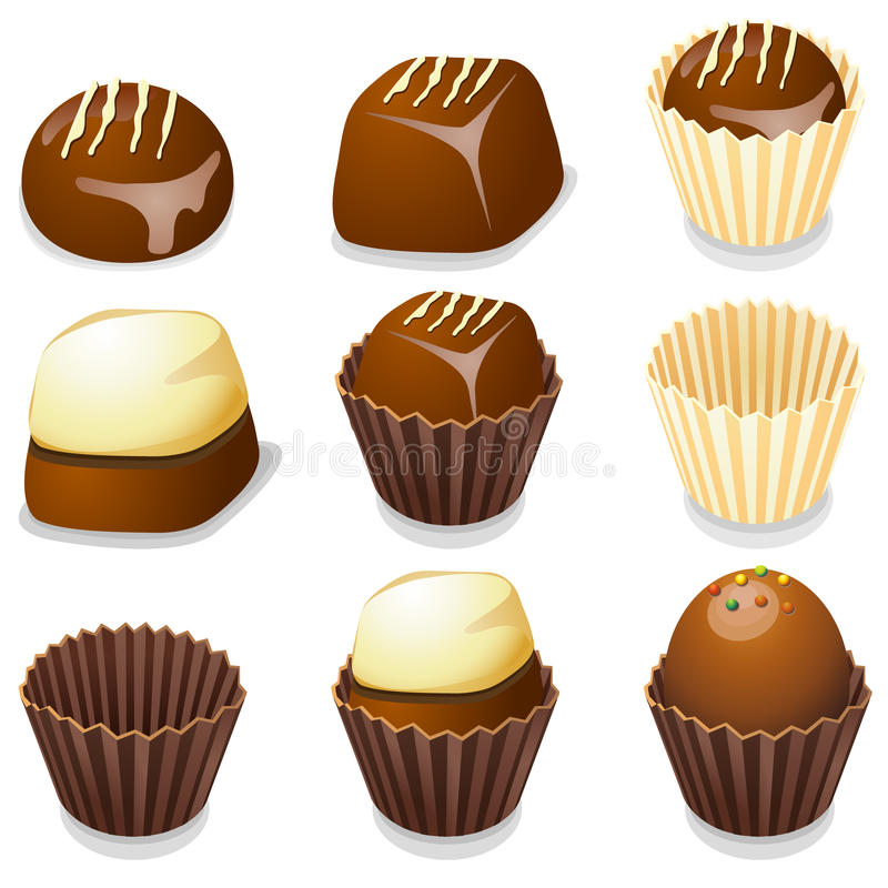 Free Chocolate Candy Isolated Vector Illustration. Stock Photos - 11163203