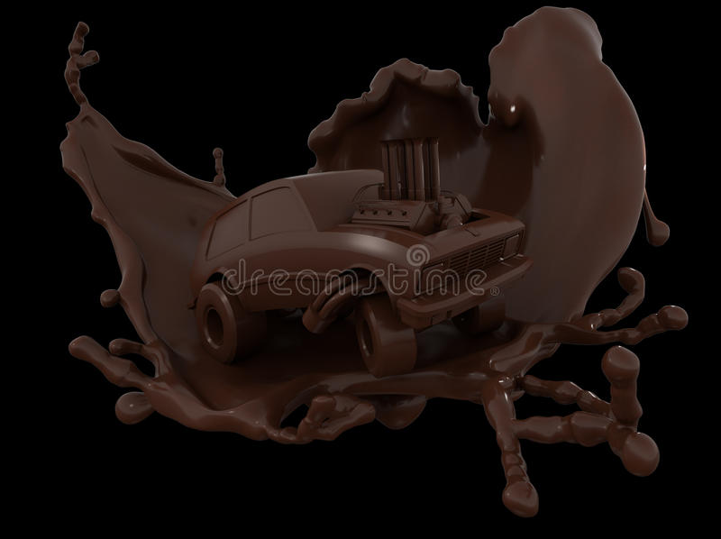 Chocolate car,chocolate cartoon car royalty free stock photography