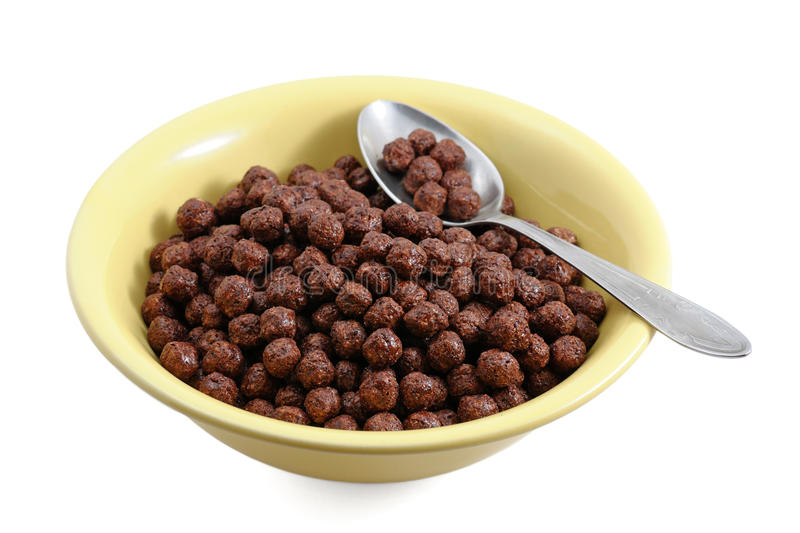 Download Chocolate cereals in bowl stock illustration. Image of tasty - 20021003