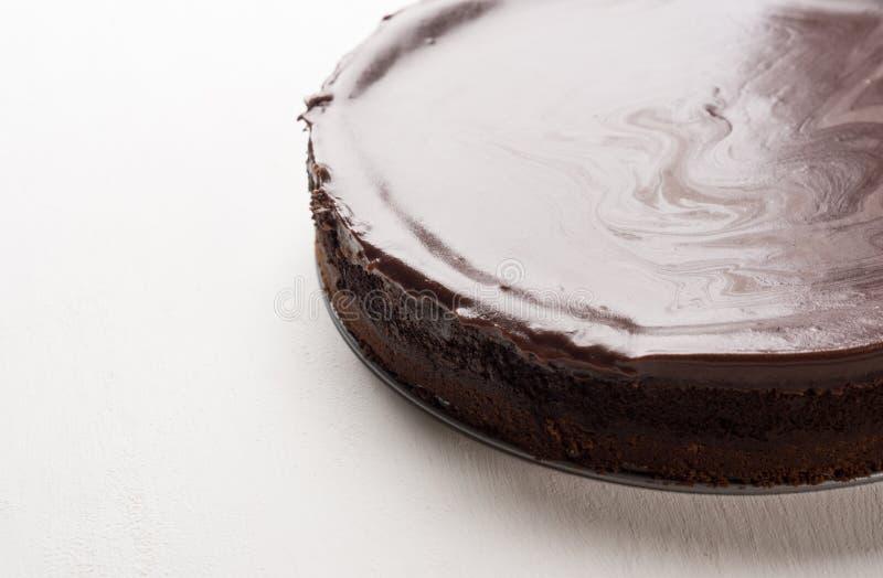 Chocolate cheesecake stock photography