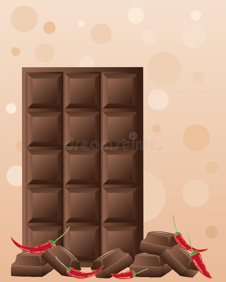 Download Chocolate chilli stock vector. Image of chocolate, background - 27286348
