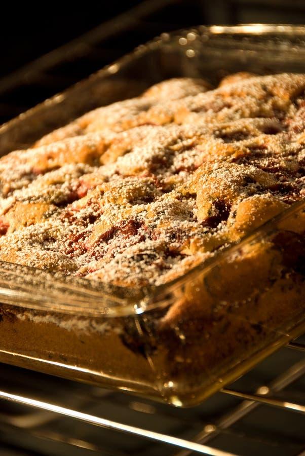 Chocolate Chip Cherry cake stock photo