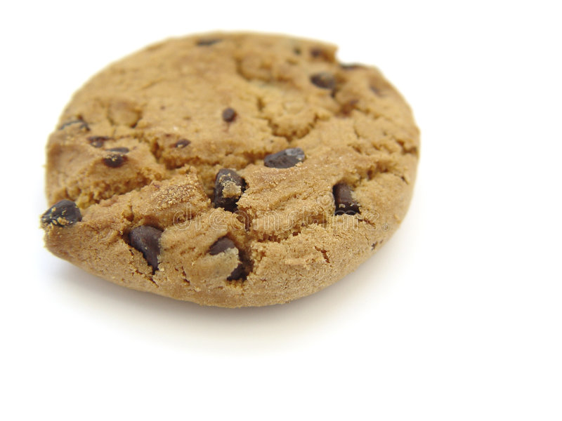 Chocolate Chip Cookie. With white background stock photography