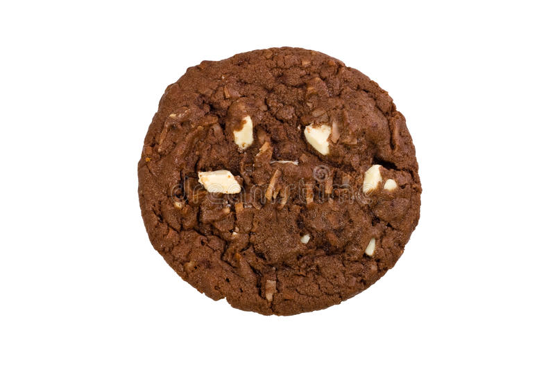 Chocolate chip cookie. Isolated on white background royalty free stock photo
