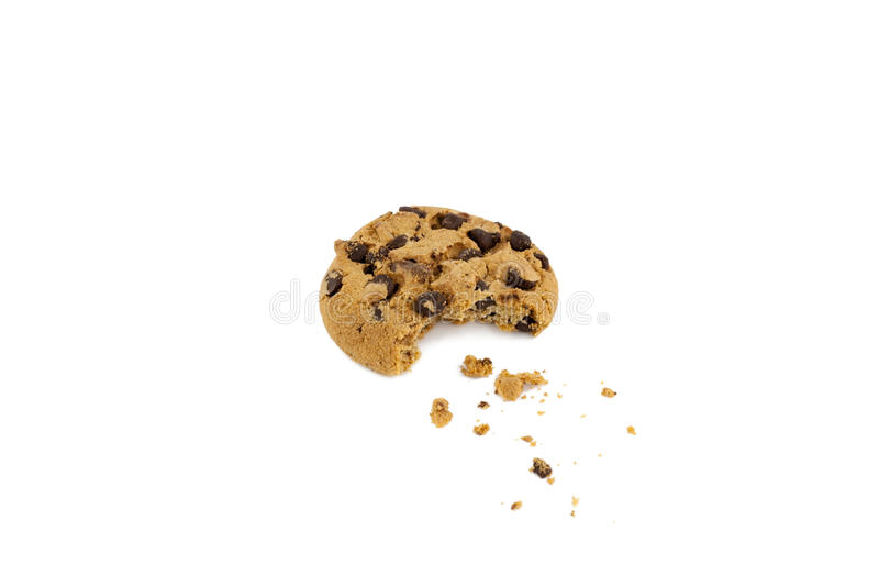 Download Chocolate Chip Cookie With Bite Taken Out Royalty Free Stock Photos - Image: 30001998