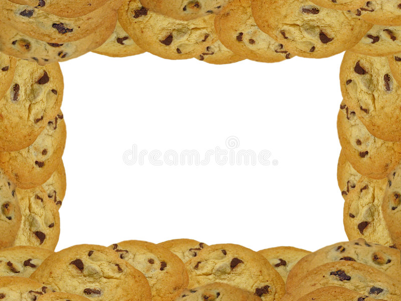 Chocolate Chip Cookie Frame royalty free stock photo