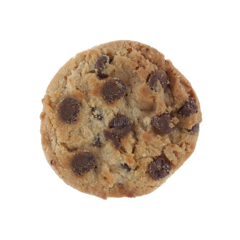 chocolate chip cookie isolated on a white background with clipping path royalty free stock image