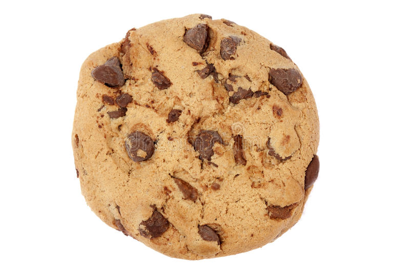 Chocolate Chip Cookie. Isolated on white with clipping path royalty free stock images