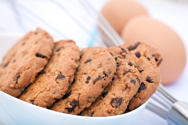 Download Chocolate Chip Cookies stock image. Image of eggs, ceramic - 20527345