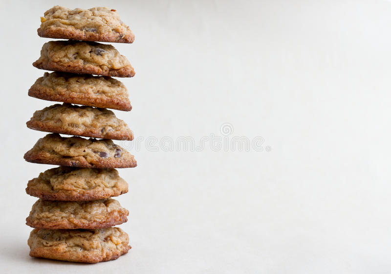 Download Chocolate chip cookies stock photo. Image of pile, treat - 23264712