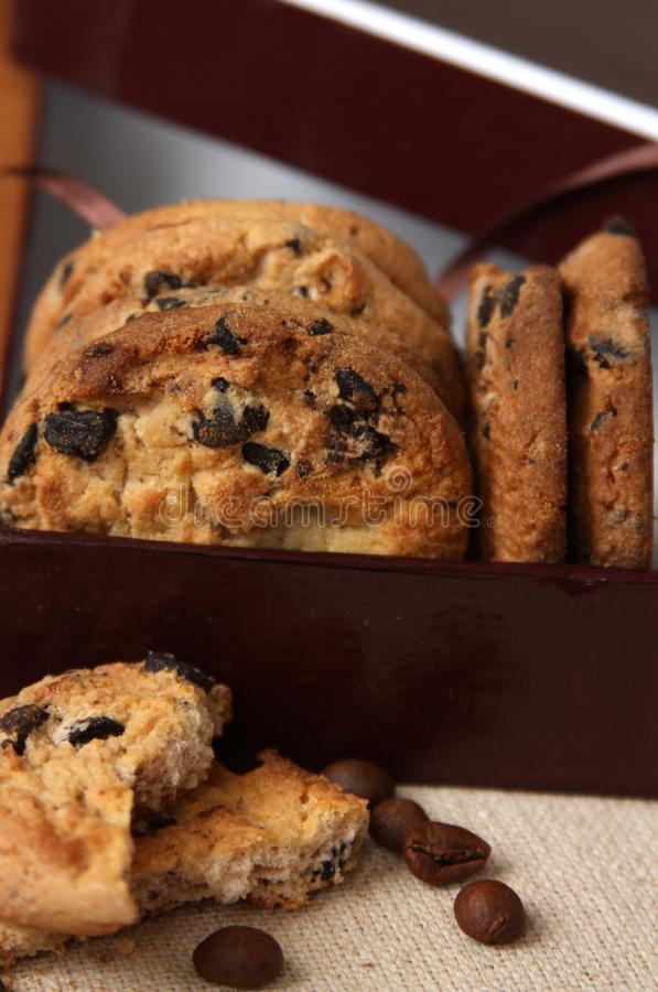 Download Chocolate chip cookies stock image. Image of sweet, baking - 23810291