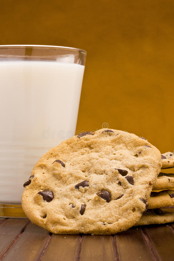 Download Chocolate Chip Cookies stock photo. Image of glass, chewy - 24286030