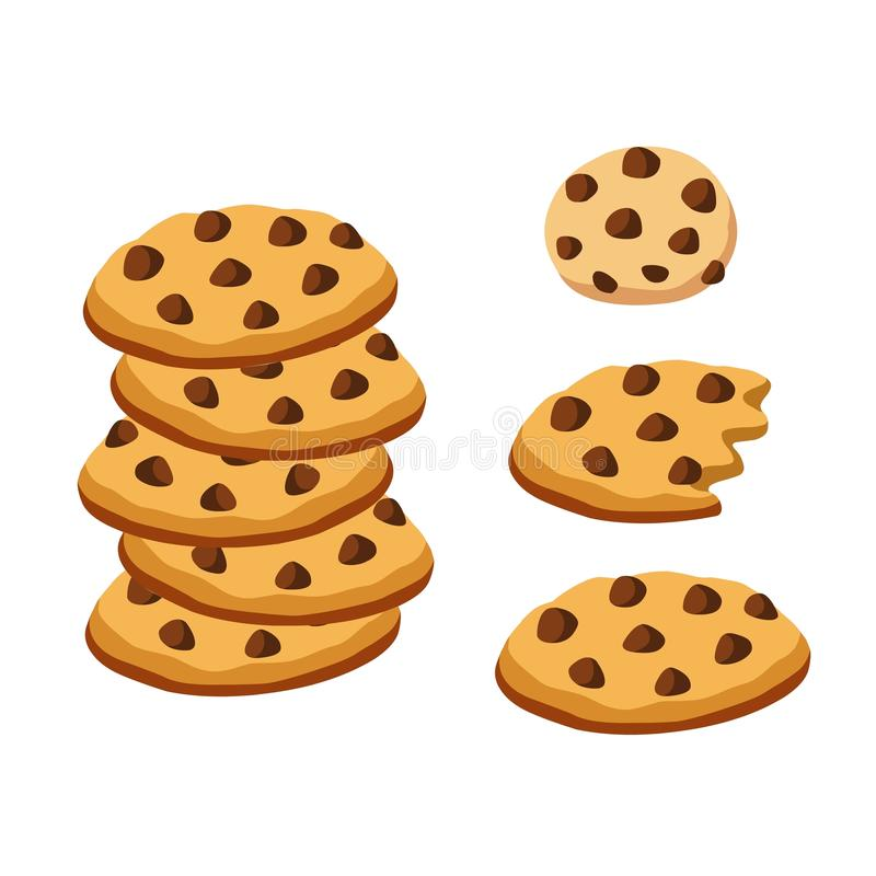 Chocolate Chip Cookies ilustración del vector