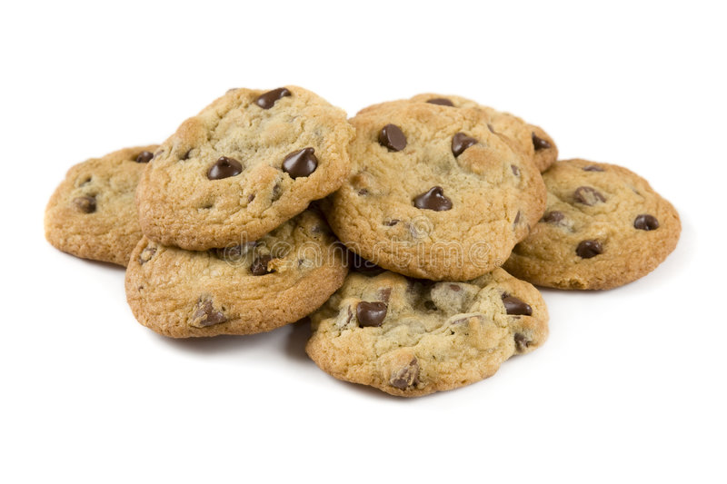 Download Chocolate chip cookies stock photo. Image of brown, delicious - 8078288